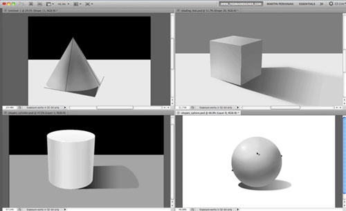 How to Apply Light, Shading, and Shadow to Round Objects