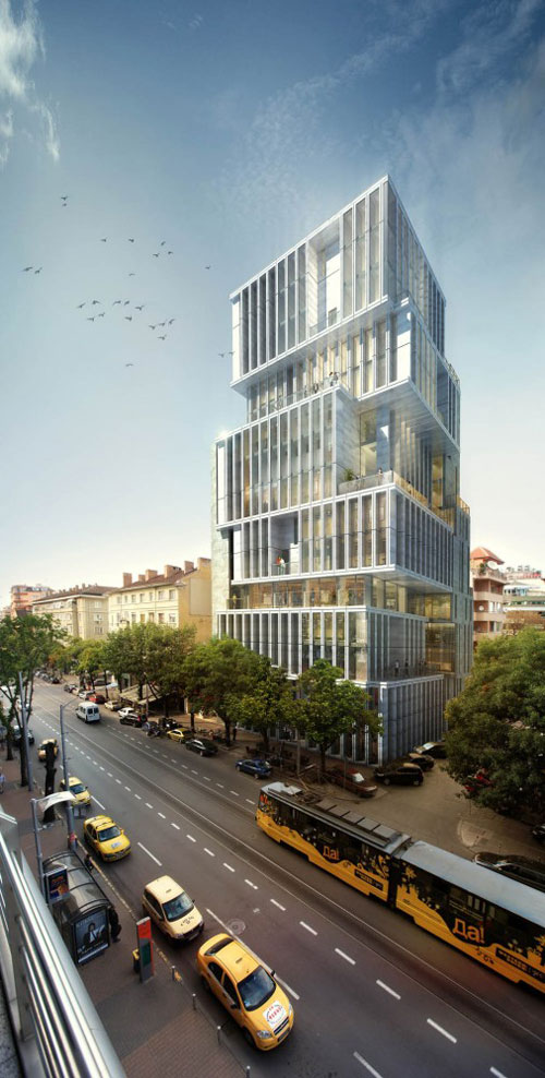 Building in Sofia, Bulgaria - Office Buildings Architecture
