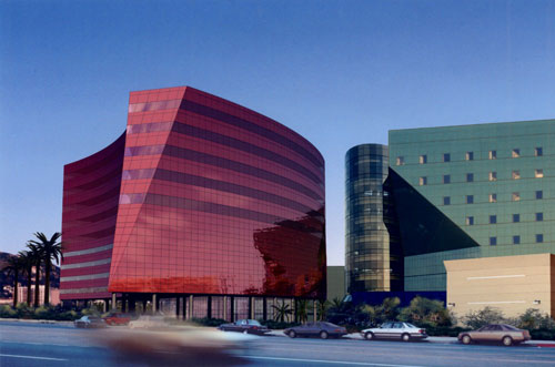 Red Building in West Hollywood, California, USA - Office Buildings Architecture
