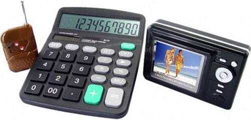 Calculator Videocamera - Ultimate Wireless Office Surveillance office gadget