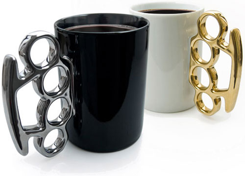 Knuckle duster mug office gadget