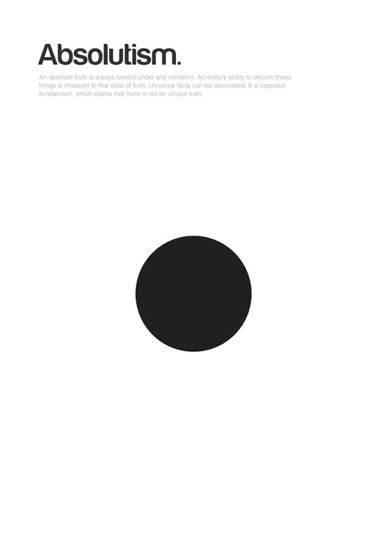 absolutism minimalist graphic design poster