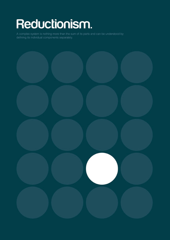 Reductionism minimalist graphic design poster