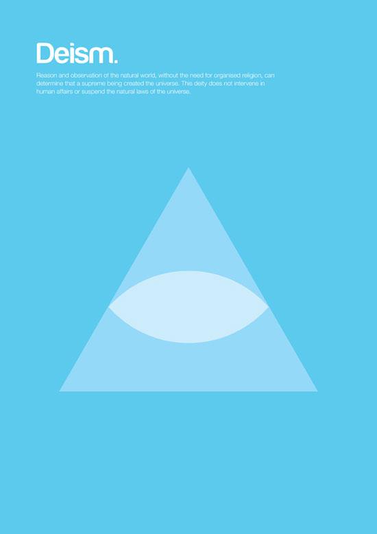 deism minimalist graphic design poster