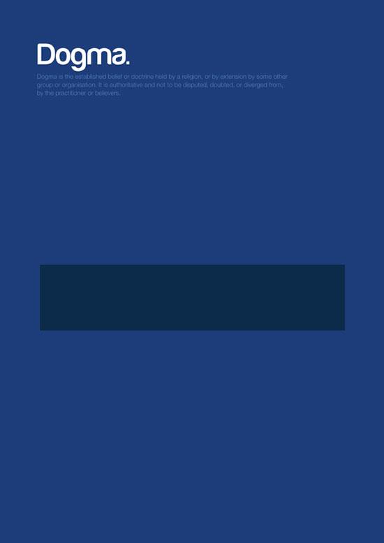 dogma minimalist graphic design poster