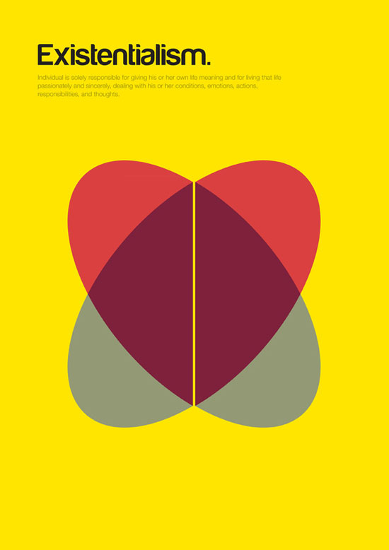 existentialism minimalist graphic design poster