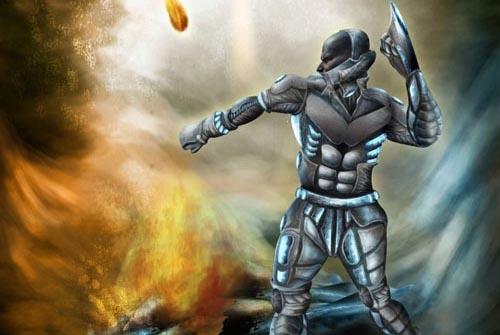 How to Create a Futuristic Sci-fi Warrior From a Stone Statue