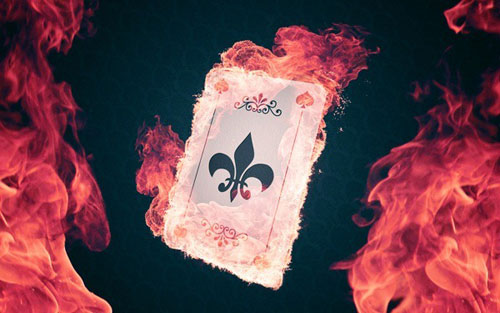 Create an Explosive Flaming Poker Card in Photoshop