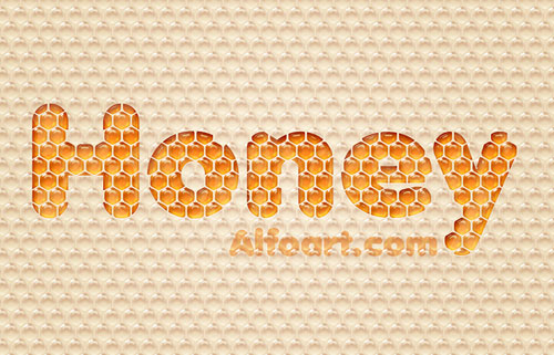 Honey bubbles text effect in Photoshop