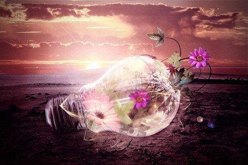 How to Create an Inspiring Light Bulb Photo Manipulation in Photoshop