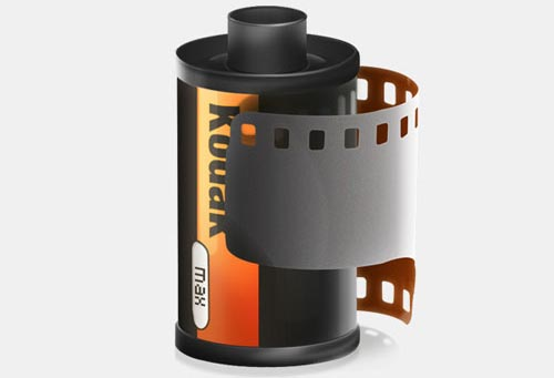 Draw a Roll of Camera Film in Photoshop