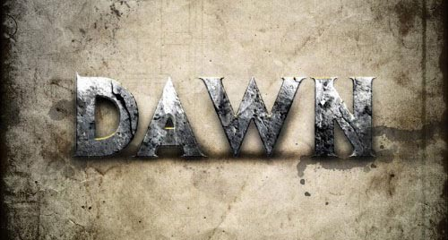Design a Dawn of War Style Concrete Text Effect in Photoshop