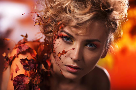 leaves Portrait Photography Inspiration