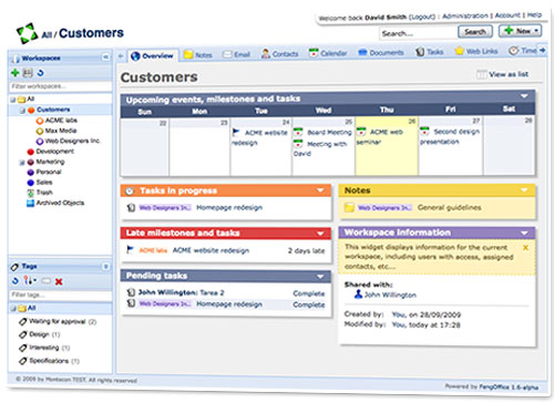 fengoffice project management tool
