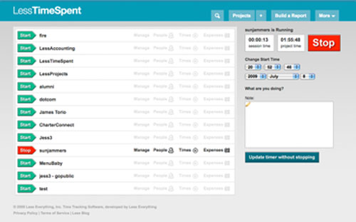 lesstimespent project management tool