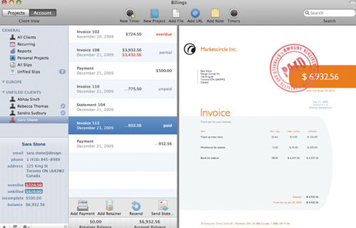 marketcircle invoice management tool
