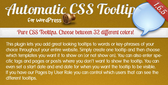 Automatic CSS Tooltip for WordPress Plugin