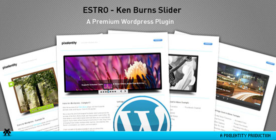 Estro - jQuery Ken Burns slider - wordpress Plugin