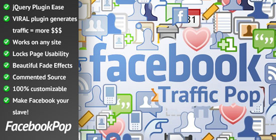 Facebook Traffic Pop for WordPress Plugin