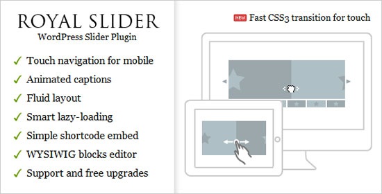 RoyalSlider - Touch Content Slider for WordPress Plugin