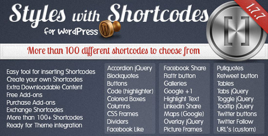 Styles with Shortcodes for WordPress Plugin