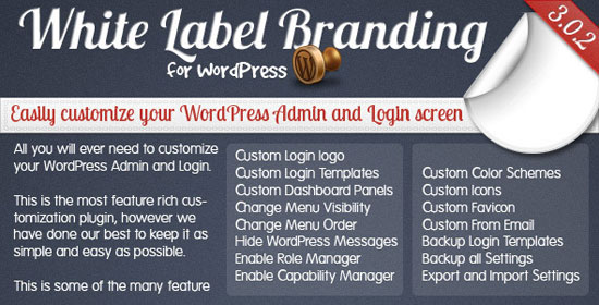 White Label Branding for WordPress Plugin