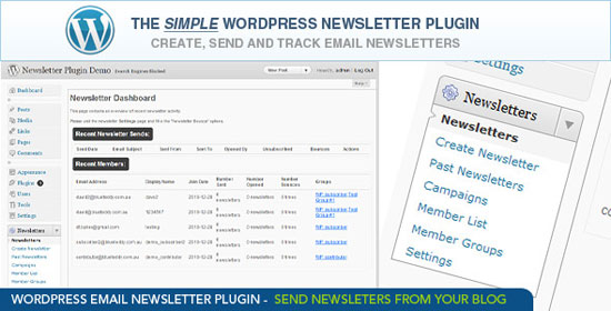 WordPress Email Newsletter Plugin Plugin