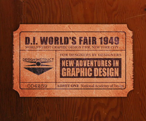 Create a Realistic Vintage Ticket Stub in Photoshop tutorial