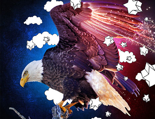 Make an Eagle and Hand-Drawn Composition in Photoshop tutorial