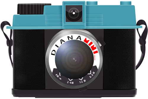 Create a Diana Mini LOMO Camera Icon in Photoshop tutorial