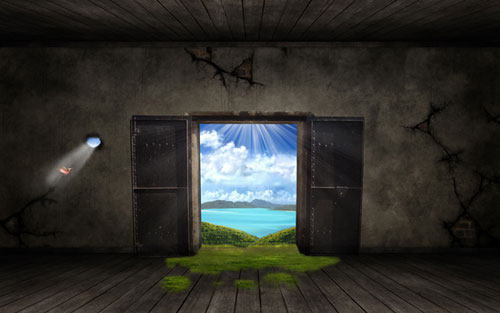 Create a Fantasy Out the Door Wallpaper in Photoshop