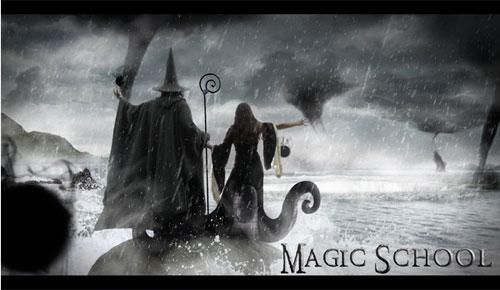 Create a Magic School Photo Manipulation Photoshop tutorial