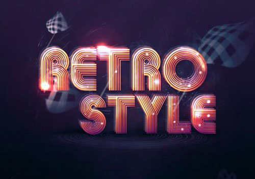 Create Abstract Shining Text Effect with Groovy Font in Photoshop tutorial