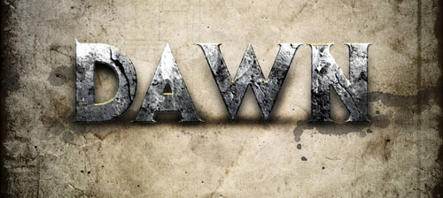 Design a Dawn of War Style Concrete Text Effect in Photoshop tutorial