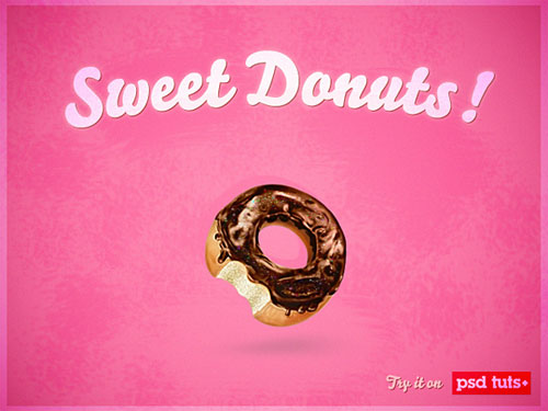 Create a Sweet Donut Icon in Photoshop from Scratch tutorial