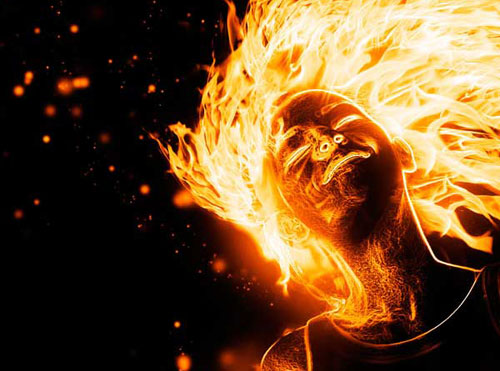 How to Create a Flaming Photo Manipulation Photoshop tutorial