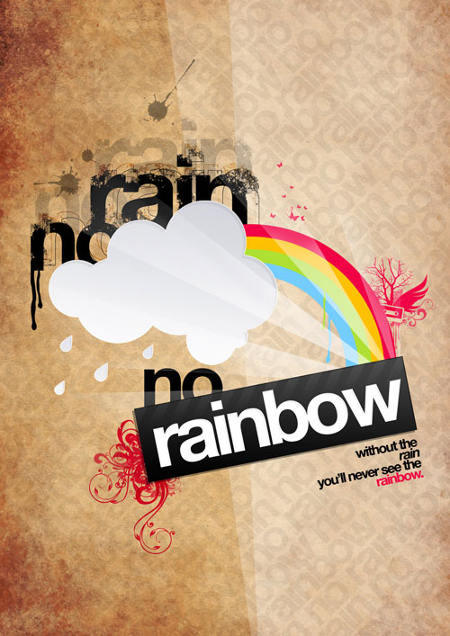 Rainbow Ready For Print Typography Poster
