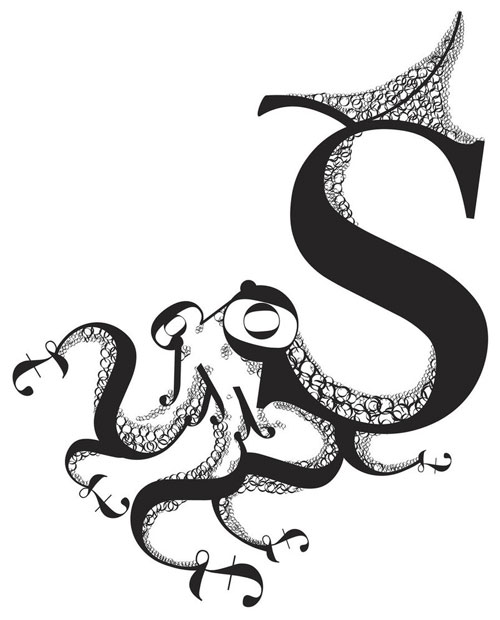 Squid Ready For Print Typography Poster