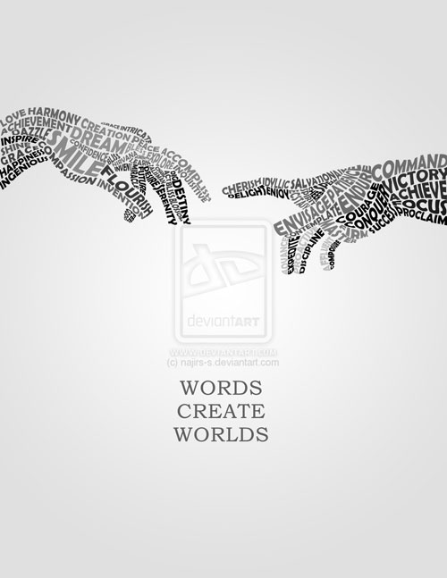Words Create World Ready For Print Typography Poster