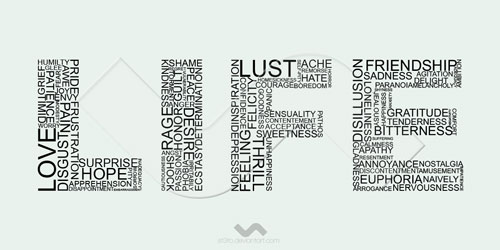 life 100 words Ready For Print Typography Poster