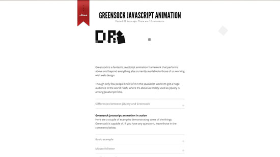 Greensock JavaScript Animation