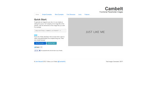 Cambelt: Functional Placeholder Images