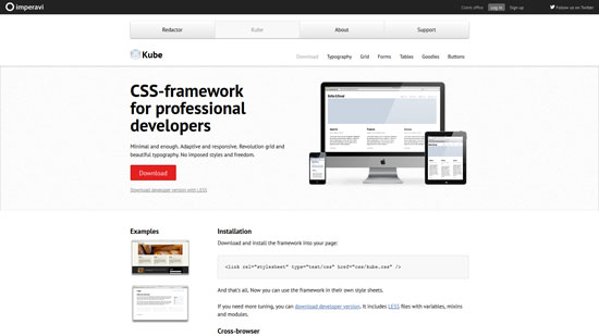 Kube: CSS-framework for professional developers