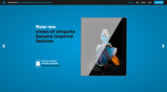 lenticular.js: tilt-controlled images