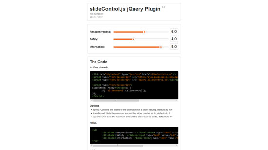 slideControl.js jQuery Plugin