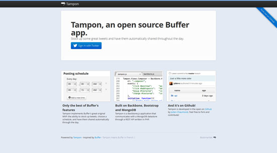 Tampon, an open source Buffer app