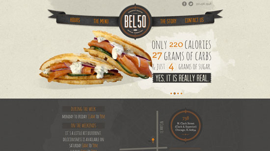bel50.com site design