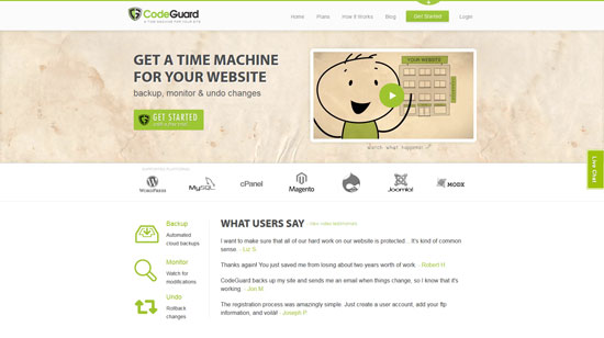 codeguard.com site design