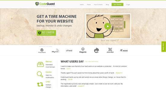 codeguard.com site design