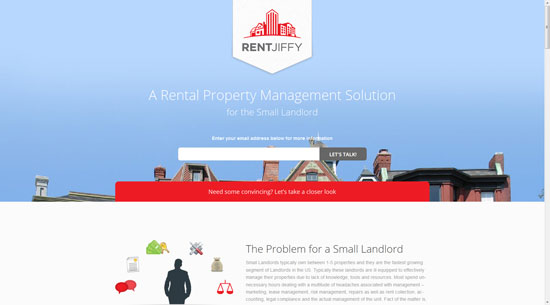 investor.rentjiffy.com site design